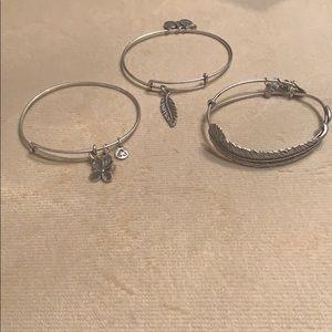 Alex and Ani set of three bangles